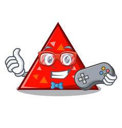 Gamer triangel mascot cartoon style vector