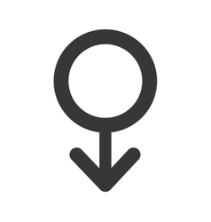 gender male circle sign icon graphic vector image