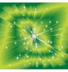 Green shining magic light background vector
