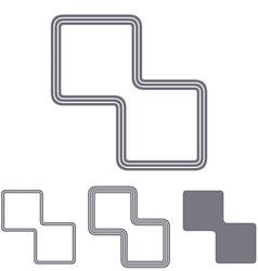 Grey line science logo design set vector