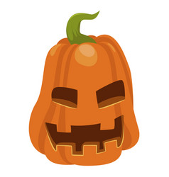 halloween orange pumpkin icon autumn seasonal vector image