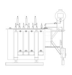 high-voltage transformer vector image