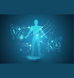 Hud interface virtual hologram future system vector