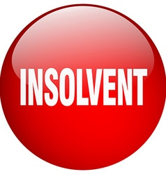 Insolvent red round gel isolated push button vector