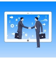 Internet deal business concept vector image