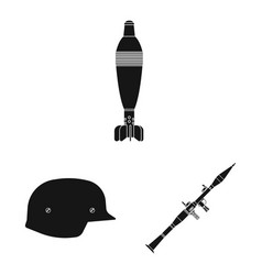 isolated object of weapon and gun symbol vector image