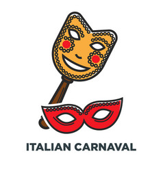 italian carnaval promo poster with elegant festive vector image