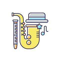 jazz music rgb color icon vector image