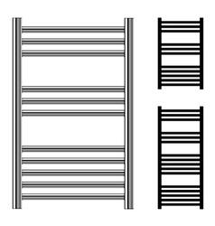 Ladder towel rails bathroom central heating vector