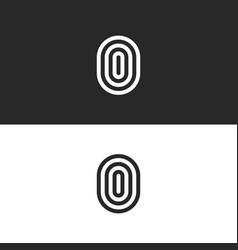 letter o logo modern monogram ooo initials emblem vector image
