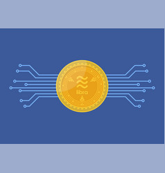 libra digital currency vector image