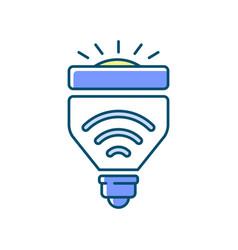 light bulbs rgb color icon vector image