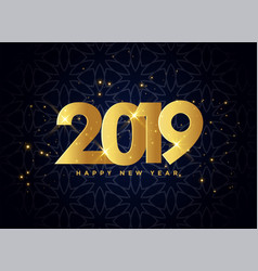 lovely 2019 golden sparkles background vector image