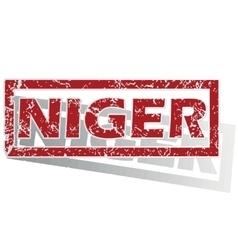 Niger outlined stamp vector