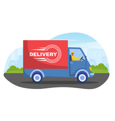 online delivery service concept vector image