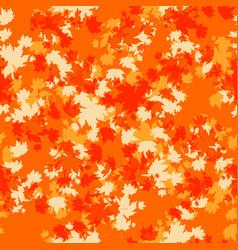 Orange autumn seamless vector