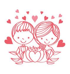 people wedding day vector image