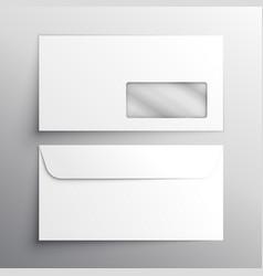 Realistic envelope mockup template vector
