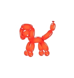 Red Balloon Poodle vector image