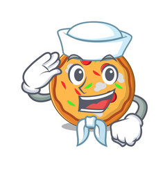sailor pizza character cartoon style vector image