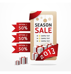 sale ribbon tag 2013 vector image