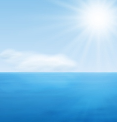 Sea Landscape Calm Blue Ocean vector image