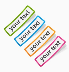 Set of colored sticky papers banners vector image