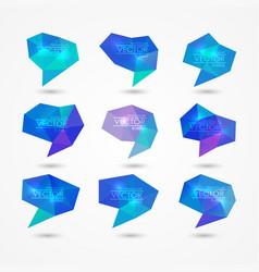 set of triangular speech bubbles vector image