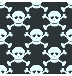 Simple seamless pattern with human skulls vector