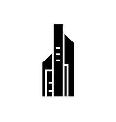 skyscrapper big icon black vector image