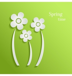 Spring flowers background vector image