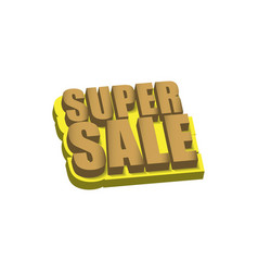 super sale template design vector image