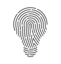 symbol fingerprint as light bulbs vector image