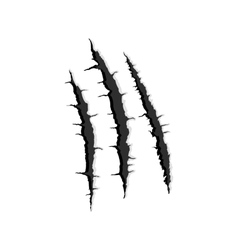 Three vertical trace monster claw vector