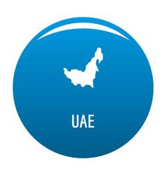 Uae map in black simple vector