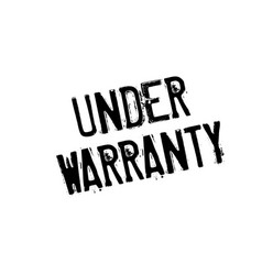 Under warranty rubber stamp vector