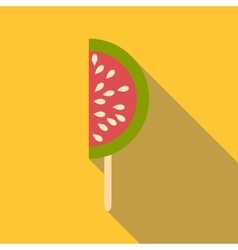 Watermelon ice cream icon flat style vector image