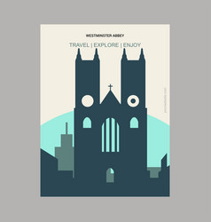 westminster abbey london uk vintage style vector image