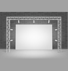 White poster picture with wall and illumination vector