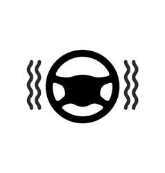Driving wheel warmer heater icon vector