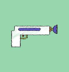 flat shading style icon kids gun vector image