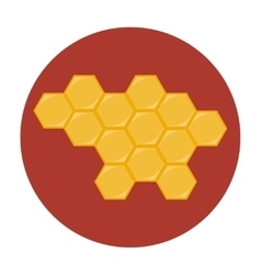 Honeycombs icon flat vector image