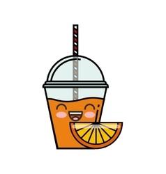 juice fruit kawaii character isolated icon vector image