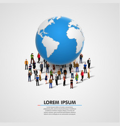 people under planet earth vector image