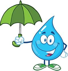 Water droplet cartoon character vector image vector image