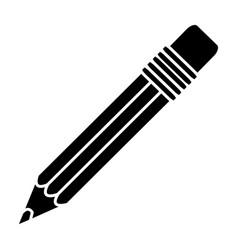 black contour pencil icon stock vector image vector image
