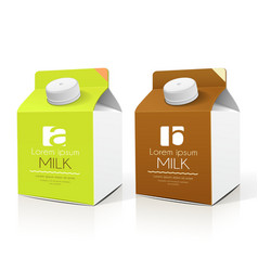 Milk box packaging design collections vector image vector image