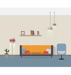 Modern interior living room vector image