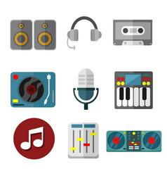 Music intrument equipment graphic set vector