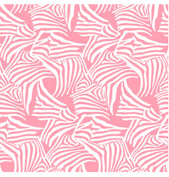 pink seamless pattern texture with zebra vector image vector image